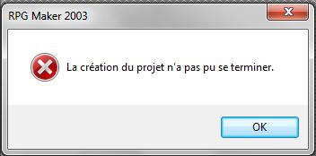 [Résolvu] Problème à la création d'un nouveau projet !  Projet-2d10c9a