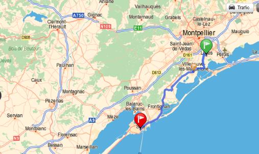 Ballade montpellier sete 17juillet for Garage sete route de montpellier